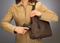 Pleated Slouch Concealed Carry Handbag can be used from right or left hand with effectiveness