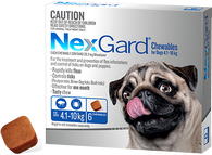 NexGard 6 Month Supply for Dogs 4.1-10kg
