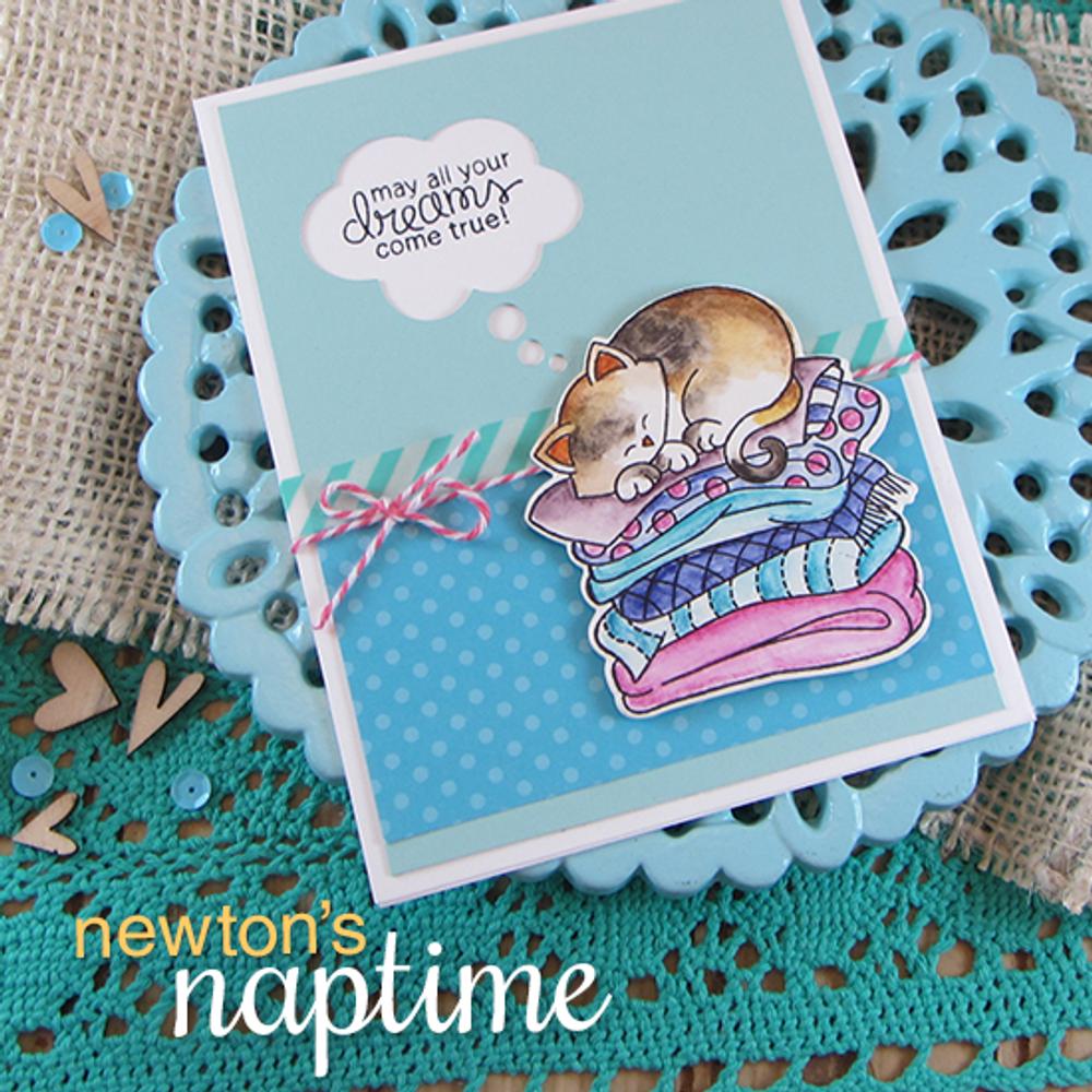 Cat Friendship Card | Newton's Naptime Stamp Set by Newton's Nook Designs