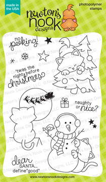 Newton's Curious Christmas | 4x6 photopolymer Stamp Set | Newton's Nook Designs