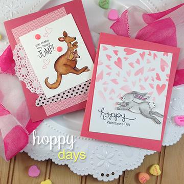 Hoppy Days   4x6 Photopolymer Stamp Set   Newton's Nook Designs