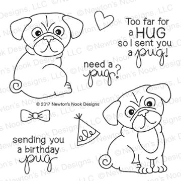 Pug Hugs Stamp Set by Newton's Nook Designs
