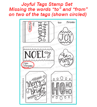 Joyful Tags Imperfect Stamp Set by Newton's Nook Designs