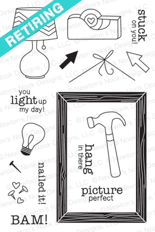 Around the House Stamp Set | 4x6 photopolymer Stamp set | Newton's Nook Designs