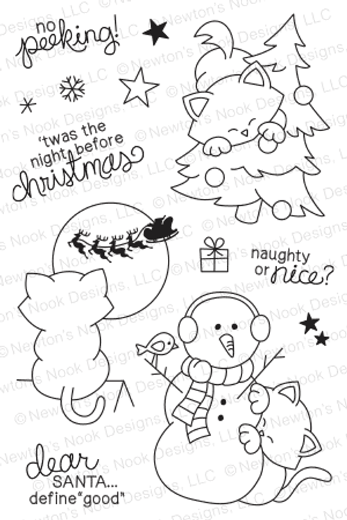 Newton's Curious Christmas | 4x6 photopolymer Stamp Set | Newton's Nook Designs