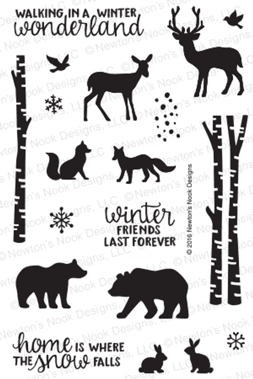 Serene Silhouettes Stamp Set by Newton's Nook Designs
