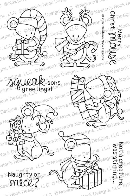Naughty or Mice Stamp Set ©2017 Newton's Nook Designs