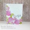 Heartfelt Flower Card | Love Grows | 3x4 photopolymer Stamp Set | Newton's Nook Designs