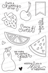 Sweet Summer | 4x6 photopolymer Stamp Set | Newton's Nook Designs