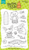 Beach Party | 4x6 photopolymer Stamp Set | Newton's Nook Designs