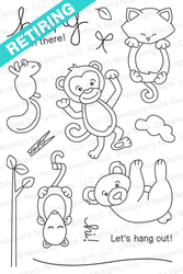 Hanging Around | 4x6 photopolymer Stamp Set | Newton's Nook Designs