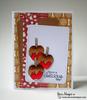 Caramel Apple Card | Apple Delights | 3x4 photopolymer Stamp Set | Newton's Nook Designs