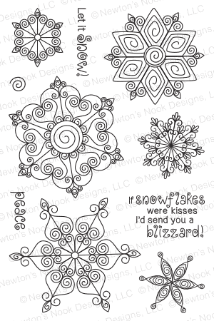 Beautiful Blizzard | 4x6 photopolymer Stamp Set | Newton's Nook Designs