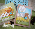 Bear and Bunny Garden Cards | Garden Whimsy | 4x6 photopolymer Stamp Set | Newton's Nook Designs