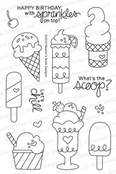 Summer Scoops | 4x6 Photopolymer Stamp Set | Newton's Nook Designs