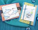 Shark birthday cards | Shark Bites Stamp Set by Newton's Nook Designs