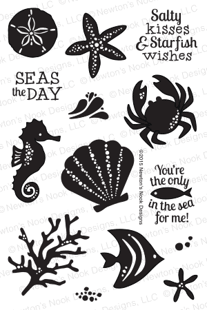 Tranquil Tides | 4x6 Photopolymer Stamp Set | Newton's Nook Designs