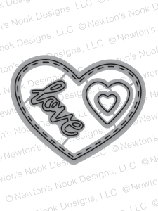 Darling Hearts | Die Set | Newton's Nook Designs
