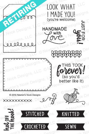 Tag Sampler Stamp Set by Newton's Nook Designs