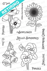 Flower Garden Stamp Set by Newton's Nook Designs
