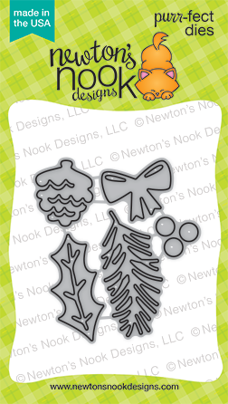 Pines & Holly Die Set by Newton's Nook Designs