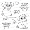 Pug Hugs Stamp Set by Newton's Nook Designs