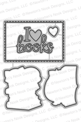 Newton's Book Club Die Set by Newton's Nook Designs
