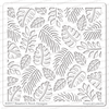 Tropical Leaves Stencil by Newton's Nook Designs