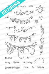 Winged Wishes | 4x6 Photopolymer Stamp Set by Newton's Nook Designs