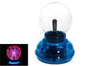 4 Inch Plasma Nebula Ball Lamp  Music / Sound Activated With Neon Ring- Blue