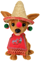 "Chantilly Lane 12"" Singing Pancho The Chihuahua With Sombrero & Poncho#244"