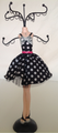 Polka Dot Fashion Mannequin Jewelry Hanger #164