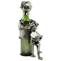 Metal Wine Bottle Holder #57- Hair Dresser