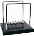 Newton's Cradle 7 inch Black Wood Base
