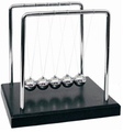 Newton's Cradle 5.5 inch Black Wood Base