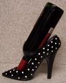 High Heel Shoe Wine Bottle Holder- Polka Dot