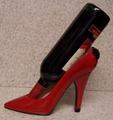 High Heel Shoe Wine Bottle Holder- Red High Heel