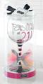 "Mud Pie ""Fabulous At 21!"" Wine Glass"