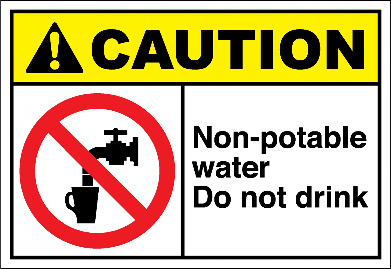 Caution Sign Nonpotable Water Do Not Drink  Safetykorem. E Learning Banners. Print Stickers Online. Tuscan Kitchen Murals. Examples Signs. Zebra Logo. Phoenix Bird Bike Decals. Jersey Banners. Dad Signs