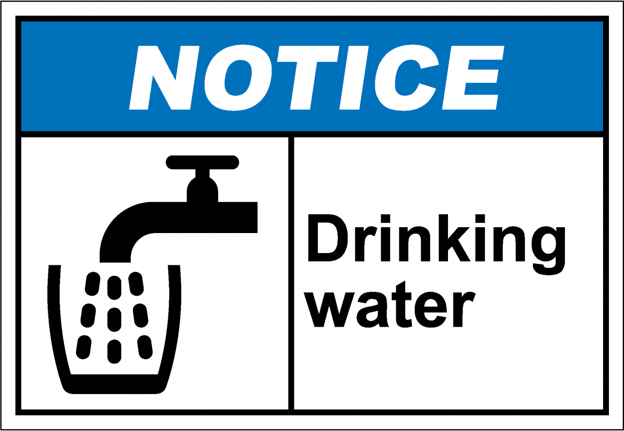 No drinking water sign the image kid for Potable water