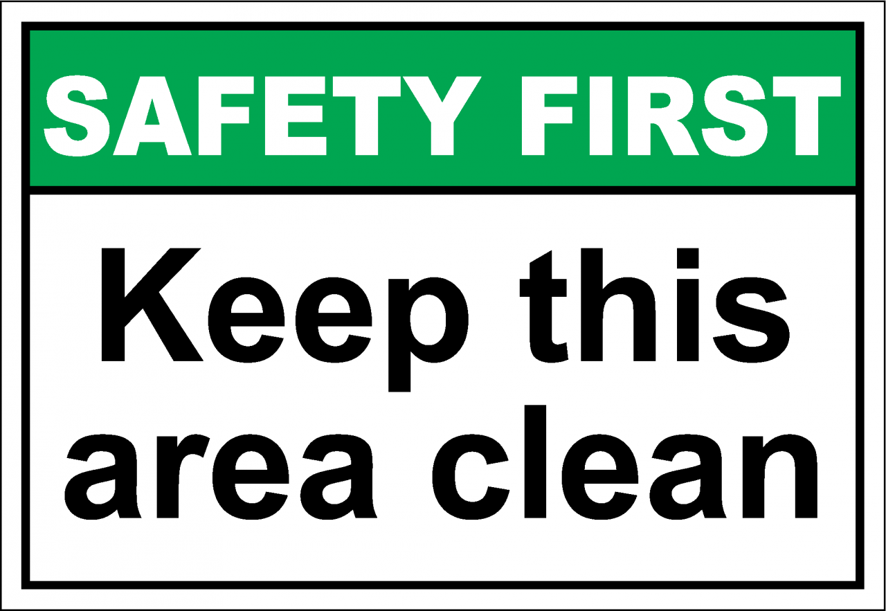 28 How To Clean An Area Your Sign Please Keep Area