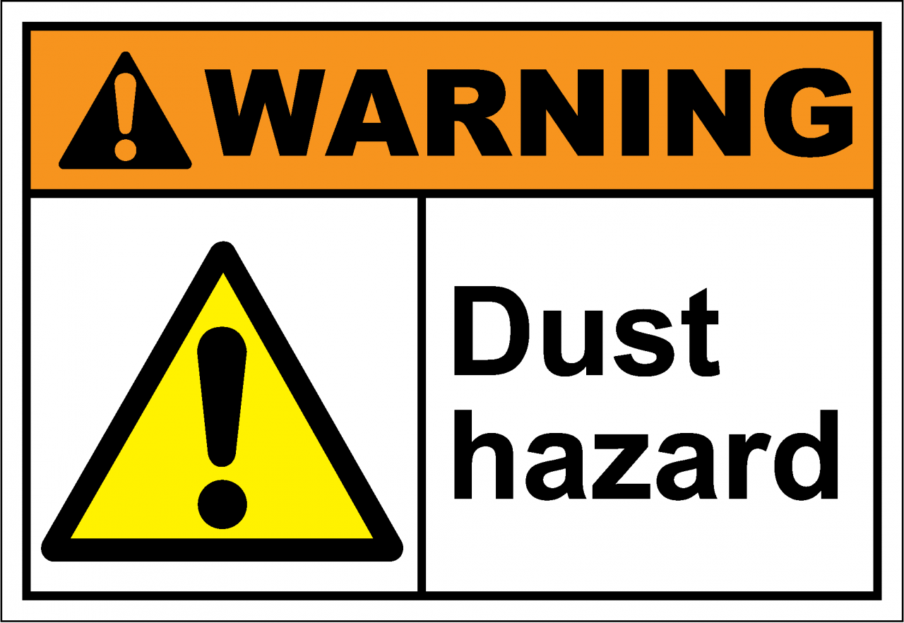 ANSI Z535 Safety Signs - Warning Dust Hazard | Seton