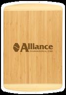 """CTB221 - 18"""" x 12"""" Bamboo 2-Tone Cutting Board"""