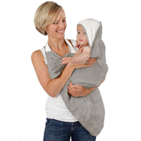 Cuddledry - The Original Cuddledry Handfree Baby Bath Towel, Grey