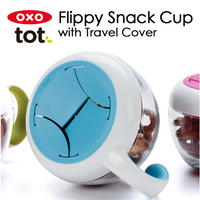 OXO Tot - Flippy Snack Cup With Travel Cover, 8oz (4 Colours)