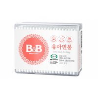 B&B - Cotton Swabs for Baby, 200P (Square Box)