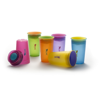 Juice! Wow Cup - Non-Spill Translucent Cup with Freshness Lid, 9oz (6 Colours)