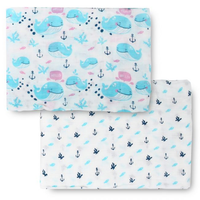 Bebe Bamboo - Bamboo Muslin Swaddle,  A Whale of Time