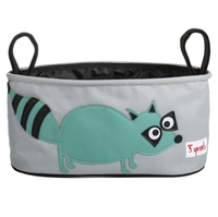 3 Sprouts - Stroller Organizer, Raccoon