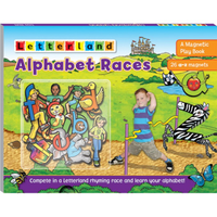 Letterland -  Alphabet Races (Magnetic Playbook)